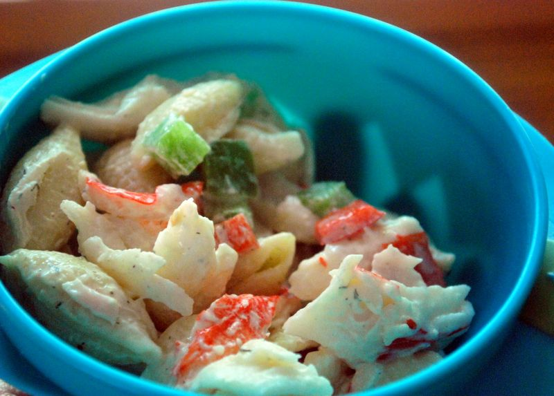 Creamy Pasta Salad with Crabmeat