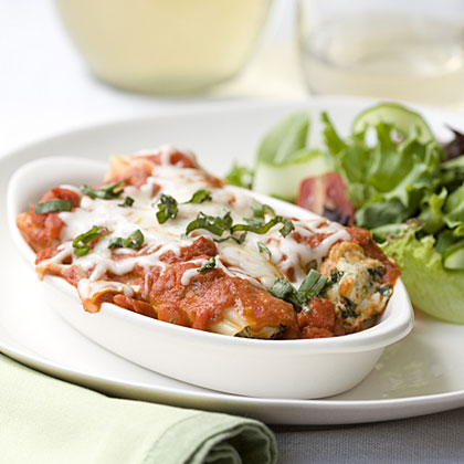 Tomato-Basil Chicken Cannelloni