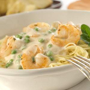 Creamy Garlic Shrimp with Angel Hair Pasta Recipe | MyRecipes.com