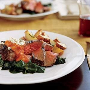Bertolli Steak and Spinach with Gorgo Vodka Sauce Recipe