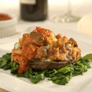 Bertolli Sausage & Gorgonzola-Stuffed Portobello Recipe