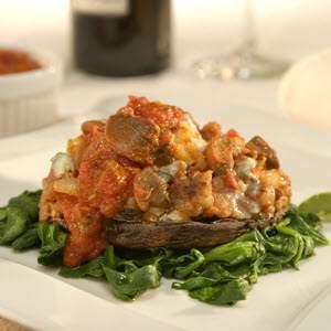 Bertolli Sausage & Gorgonzola-Stuffed Portobello Recipe