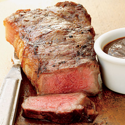 Strip Steaks with Red-Eye Barbecue SauceRecipe