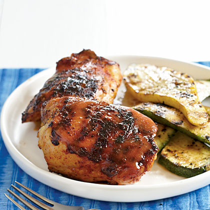Barbecue Chicken with Mustard Glaze