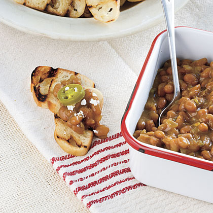 Baked Bean Crostini
