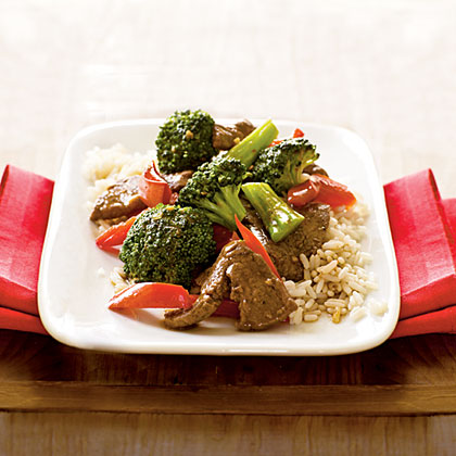Stir-Fried Beef with Broccoli and Bell PeppersRecipe