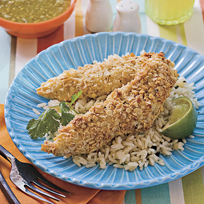 Lime Tortilla-Crusted Chicken Tenders Recipe