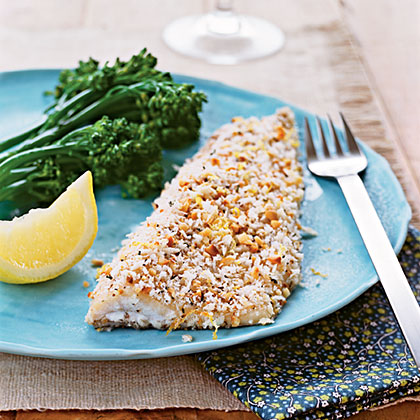 Hazelnut-Crusted Trout Recipe | MyRecipes
