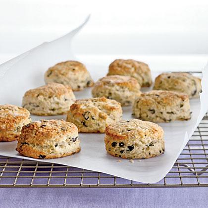 Purple Basil Parmesan Biscuits