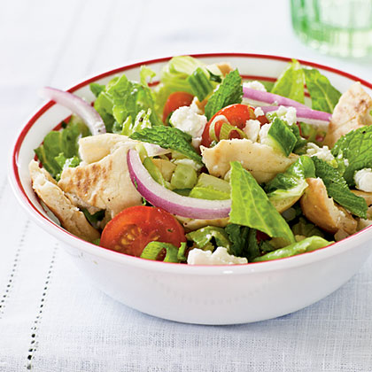 Pita Salad with Tomatoes, Cucumber, and HerbsRecipe