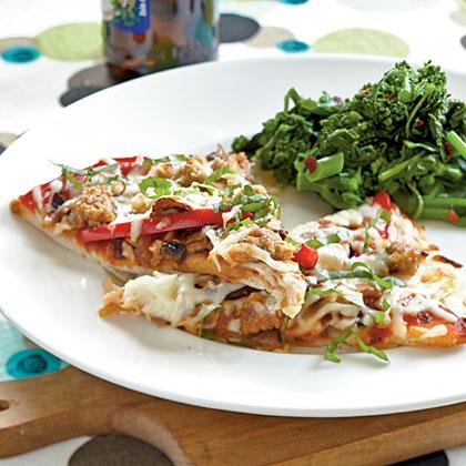 Sausage, Pepper, and Mushroom PizzaRecipe