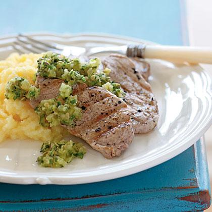 Grilled Pork Tenderloin with Salsa Verde