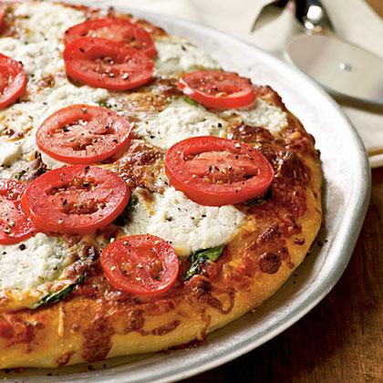 Spinach and Ricotta Pizza Recipe | MyRecipes