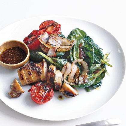spinach-salad-sausage