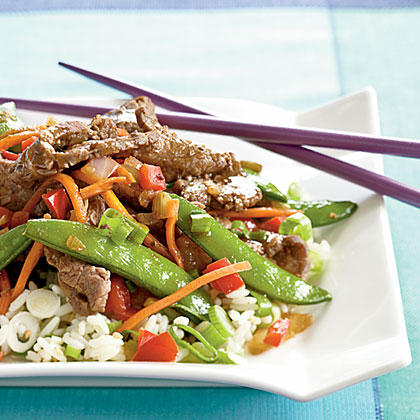 Beef and Sugar Snap Stir-Fry