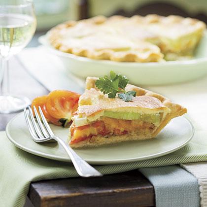 Tomato-Leek Pie