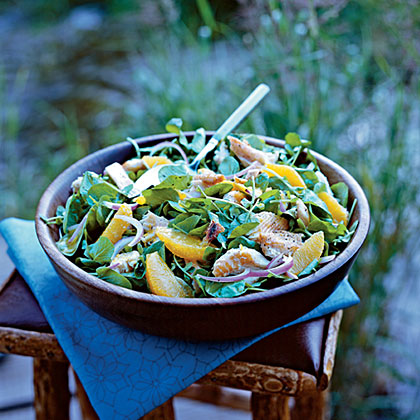 Smoked Trout, Watercress, and Orange Salad