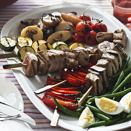 tuna-kebab-salad Recipe