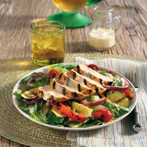 Hellmann's Mayonnaise Grilled Chicken and Vegetable salad Recipe