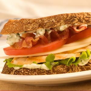 Hellmann's Mayonnaise chicken and basil sandwich Recipe