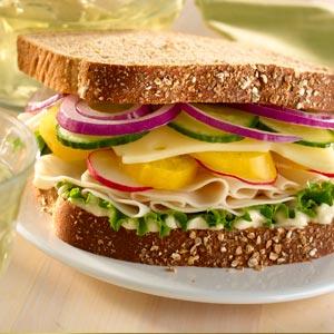 Hellmann's Mayonnaise Garden Chicken Deli SandwichRecipe