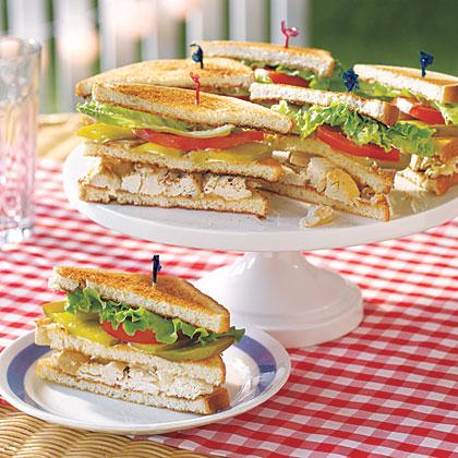 Chicken Salad Club Sandwiches Recipe