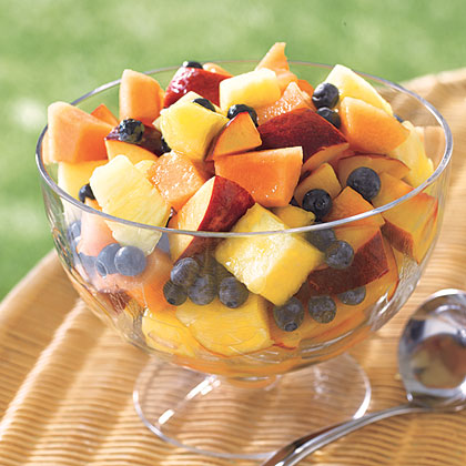 Fruit Salad with Lemon-Honey Dressing