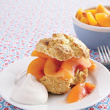 Cornmeal Peach Shortcakes