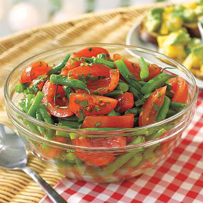 Green Bean and Tomato Salad Recipe | MyRecipes.com