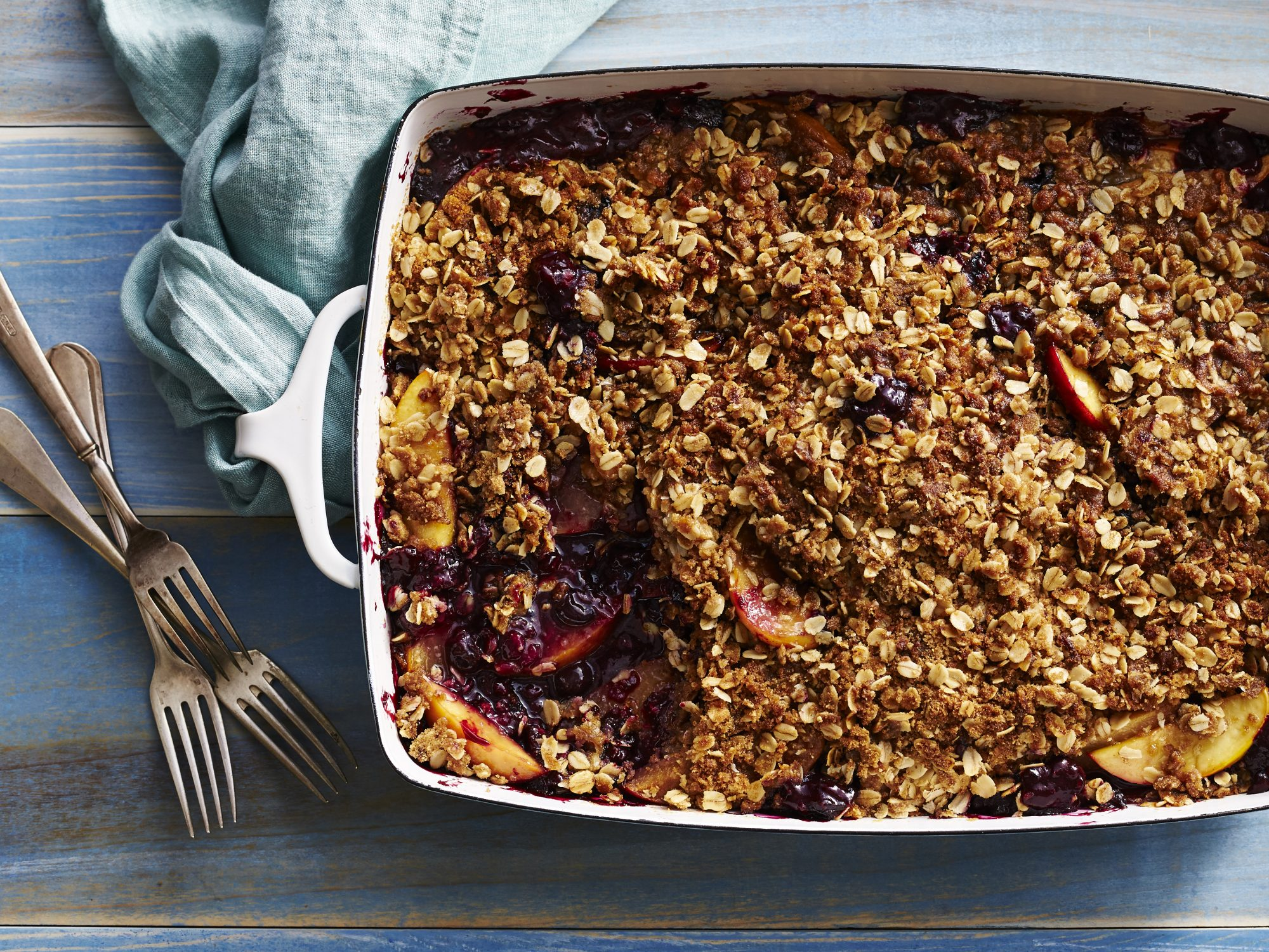 Nectarine-Blueberry Crisp Recipe | MyRecipes