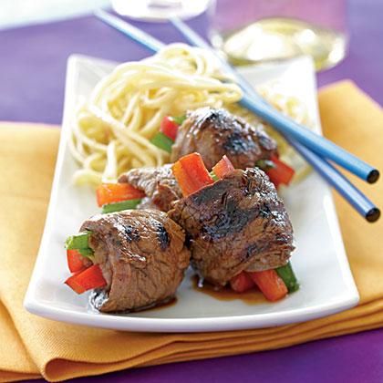 <p>Asian Beef Rolls</p>