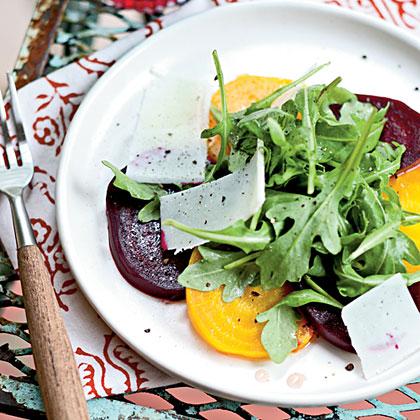 Beet and Arugula Salad with Kefalotyri