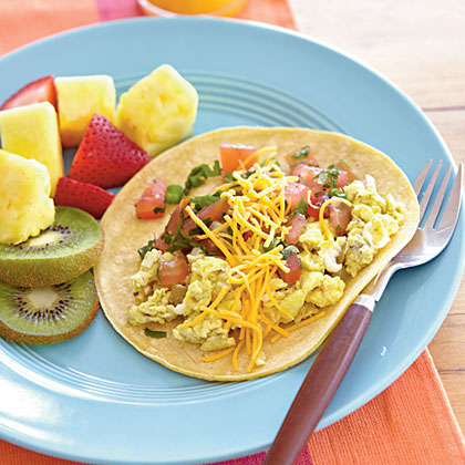 Quick Breakfast Burritos