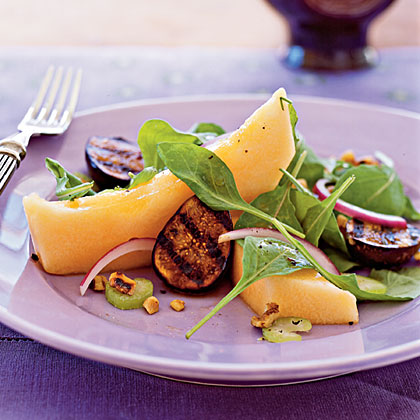 Cantaloupe and Grilled Fig Salad Recipe