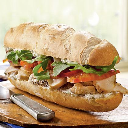 Chicken and Roquefort Sandwiches