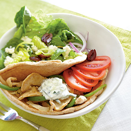 Prepare a family-friendly Mediterranean-style dish that's sure to please even the pickiest eater. The quick-cooking chicken and simple homemade yogurt sauce make this a perfect dish for a busy weeknight. Serve with a simple side salad.Watch the VideoSkillet Chicken Souvlaki                 &#1 Recipe