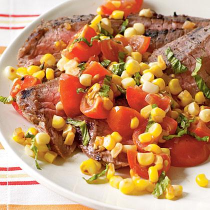 Pan-Roasted Corn and Tomato Relish Recipe