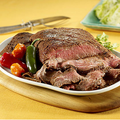 Ancho Chili-Rubbed Flank Steak Recipe