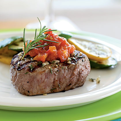 Rosemary Grilled Steak with Tomato JamRecipe