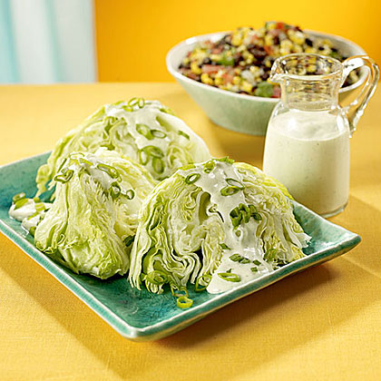 Iceberg Lettuce Wedges with Creamy Garlic Dressing Recipe
