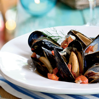 Mussels with Tomato and Dill Recipe