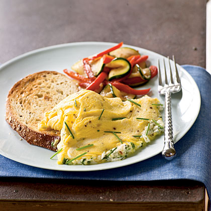 Herb and Goat Cheese Omelet Recipe | MyRecipes.com