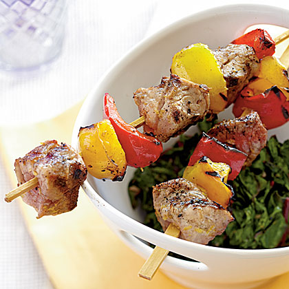 Tuscan Pork Kebabs