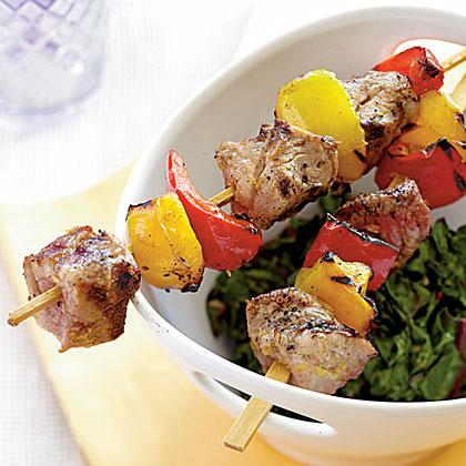 Tuscan Pork Kebabs