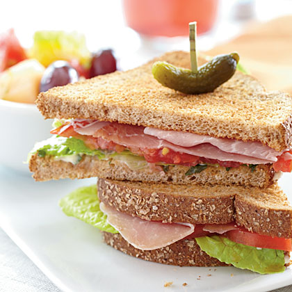 Prosciutto, Lettuce, and Tomato Sandwiches