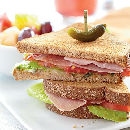 Prosciutto, Lettuce, and Tomato Sandwiches