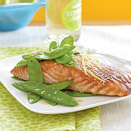 Salmon with Hoisin Glaze