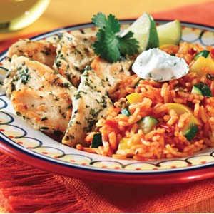 Knorr Rice & Pasta Sides Cilantro Chicken Zucchine and Rice Recipe