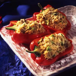 Knorr Rice & Pasta Rice Stuffed Red Peppers Recipe
