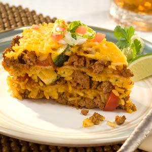 Knorr Rice & Pasta Rice Vegetable Taco Pie Recipe